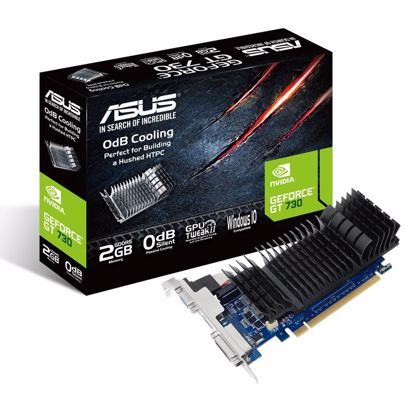 Fotografija izdelka ASUS Geforce GT 730 2GB GDDR5 Silent Low Profile (GT730-SL-2GD5-BRK) grafična kartica