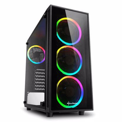 Fotografija izdelka SHARKOON TG4 RGB midiATX okno gaming črno ohišje