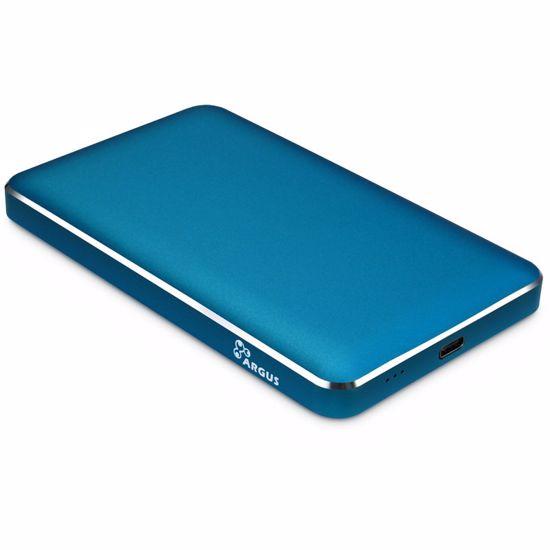 """Fotografija izdelka INTER-TECH ARGUS GD-25609 USB Type-C za disk 6,35cm (2,5"""") modro zunanje ohišje"""