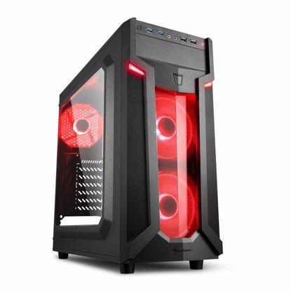 Fotografija izdelka  SHARKOON VG6-W midiATX okno LED(rdeča) črno ohišje