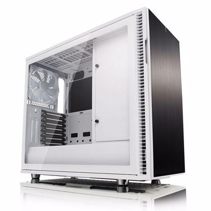 Fotografija izdelka FRACTAL DESIGN Define R6 USB-C TG White MidiATX belo ohišje