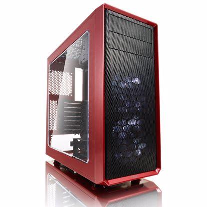 Fotografija izdelka FRACTAL DESIGN Focus G Mystic Red midiATX okno rdeče ohišje