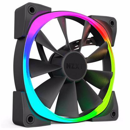 Fotografija izdelka NZXT Aer RGB 140mm 4-pin PWM (RF-AR140-B1) RGB LED ventilator