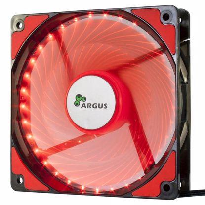 Fotografija izdelka INTER-TECH Argus L-12025 RD rdeč LED 120mm ventilator