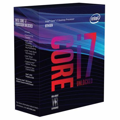 Fotografija izdelka INTEL Core i7-8700K 3,7/4,7GHz 6-core 12MB LGA1151 BOX procesor