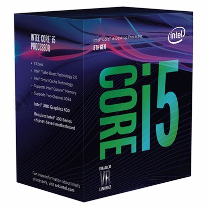 Fotografija izdelka INTEL Core i5-8600 3,1/4,3 GHz 6-core 9MB LGA1151 BOX procesor
