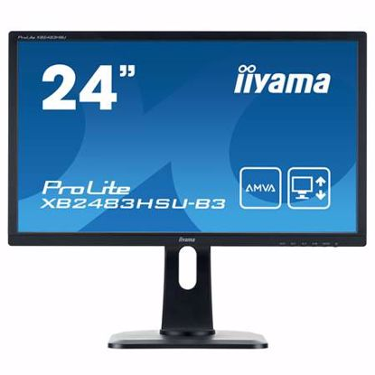 "Fotografija izdelka IIYAMA ProLite XB2483HSU-B3 60,5cm (23,8"") FHD AMVA LED zvočniki LCD monitor"