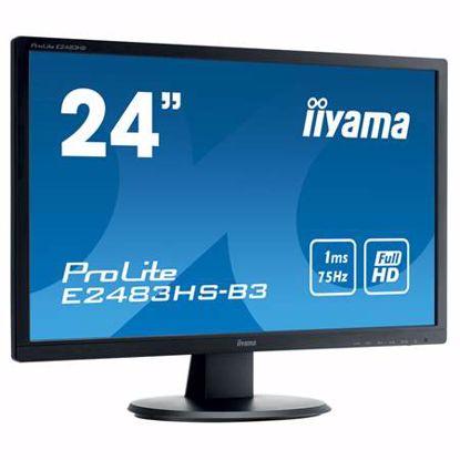 "Fotografija izdelka IIYAMA ProLite E2483HS-B3 61cm (24"") FHD TN VGA/HDMI/DP 1ms zvočniki LCD monitor"