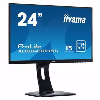 """Fotografija izdelka IIYAMA ProLite XUB2492HSU-B1 60,5cm (23,8"""") FHD IPS HDMI/DP zvočniki LED LCD monitor"""