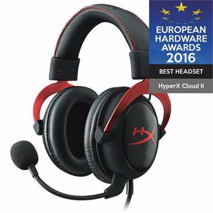 Fotografija izdelka HYPERX Cloud II Pro (KHX-HSCP-RD) USB črno/rdeče gaming slušalke