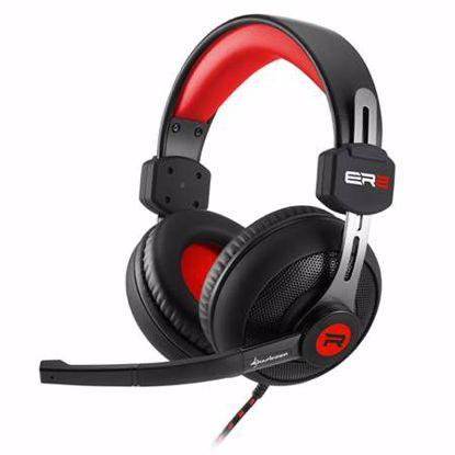 Fotografija izdelka SHARKOON RUSH ER2 črno/rdeče gaming slušalke