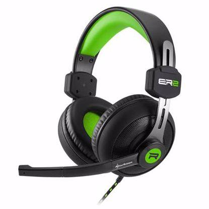 Fotografija izdelka SHARKOON RUSH ER2 črno/zelene gaming slušalke