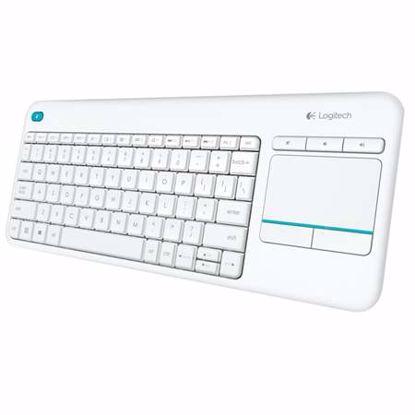 Fotografija izdelka LOGITECH K400 PLUS brezžična touch bela slo tisk tipkovnica