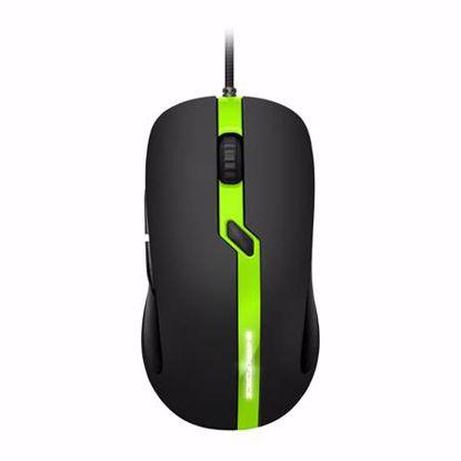 Fotografija izdelka SHARKOON Shark Force PRO optična USB črna/zelena gaming miška