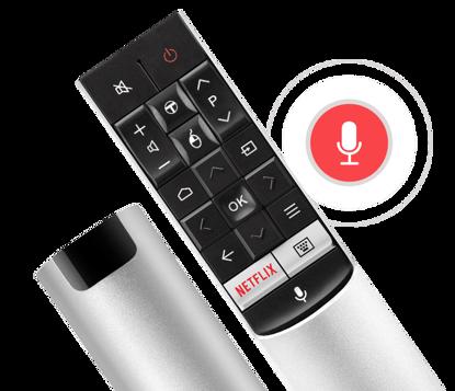 Fotografija izdelka Dodatni daljinski upravljalnik TCL ''Voice Search Control'' za serijo P60, P66, C76, C70, X1, X2