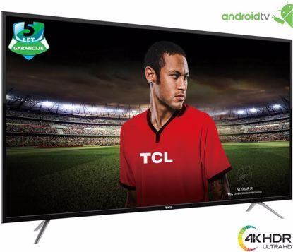 """Fotografija izdelka LED TV TCL 43"""" U43P6046 4K UHD, Android, Smart, WiFi, 1200Hz, HDR, 10bit, DTS, brušen aluminij, slim"""