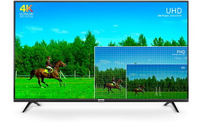 """Fotografija izdelka LED TV TCL 49"""" (diagonala 124,5cm) 49DP600, 4K UHD, Smart TV 3.0, WiFi, HDR, 10bit, Micro Dimming, Slim"""