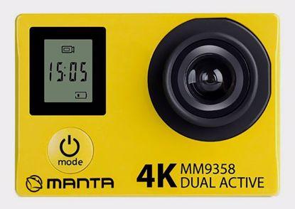 Fotografija izdelka Aktivna športna kamera MANTA MM9358 DUAL ACTIVE, Premium, 4K-UHD,WiFI, Dvojni zaslon