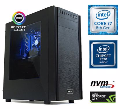 Fotografija izdelka Računalnik MEGA 6000X i7-8700/16GB/SSD500GB-NVMe/1TB/GTX1660Ti-6GB/RGB