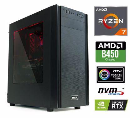 Fotografija izdelka Računalnik  MEGA 6000X Ryzen 7-2700/16GB/SSD500GB-NVMe/2TB/RTX2060-6GB/RGB