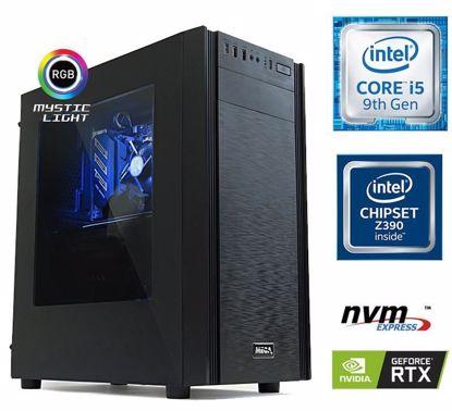 Fotografija izdelka Računalnik  MEGA 6000X i5-9600K/16GB/SSD250GB-NVMe/2TB/RTX2060-6GB/RGB W10PRO