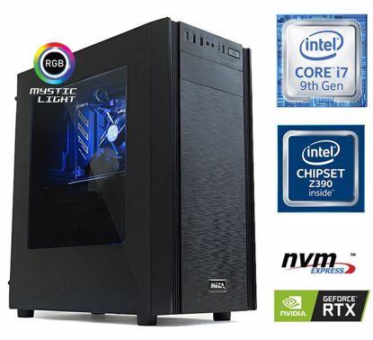 Fotografija izdelka Računalnik  MEGA 6000X i7-9700K/16GB/SSD250GB-NVMe/2TB/RTX2060-6GB/RGB W10