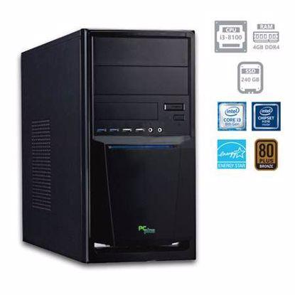 Fotografija izdelka PCPLUS e-office i3-8100 4GB 240GB SSD W10