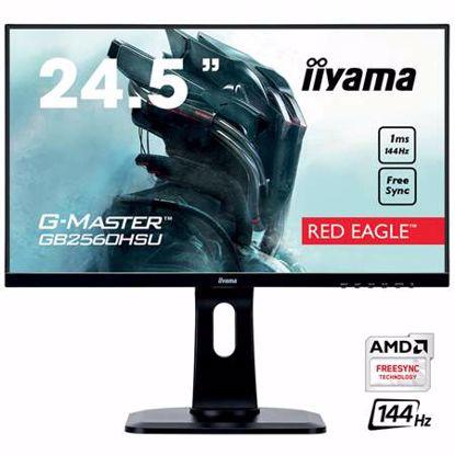 """Fotografija izdelka IIYAMA G-MASTER Red Eagle GB2560HSU-B1 62,2cm (24,5"""") FHD TN HDMI/DP/USB FreeSync 1ms 144 Hz zvočniki gaming LED LCD monitor"""