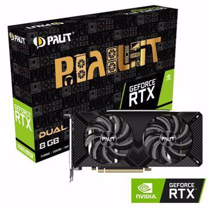 Fotografija izdelka PALIT GeForce RTX 2060 SUPER DUAL 8GB GDDR6 (NE6206S018P2-1160A) grafična kartica