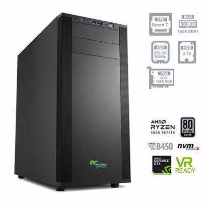 Fotografija izdelka PCPLUS Dream machine Ryzen 7 3700X 16GB 250GB NVMe SSD + 2TB HDD GTX 1660 6GB