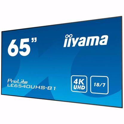 "Fotografija izdelka IIYAMA Monitor 65"" 3840 x 2160, 4K UHD AMVA3 panel, Fan-less, Speakers, Multiple In-/Outputs (VGA, DisplayPort, HDMI(4x) and more), 350 cd/m², 4000:1 Static Contrast, 8 ms, Landscape mode, Media Play USB Port, LAN Control (RJ45), RS232C (Control)"
