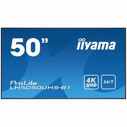 "Fotografija izdelka 50"" 3840x2160, 4K UHD AMVA3 panel, Fan-less, Speakers, DisplayPort, HDMI(3x), Component Video (and more), 450 cd/m², 4000:1 Static Contrast, HDR, 8 ms, Landscape or Potrait mode, Media Play USB Port, LAN Control (RJ45), RS232C, Ambient Light Sensor"