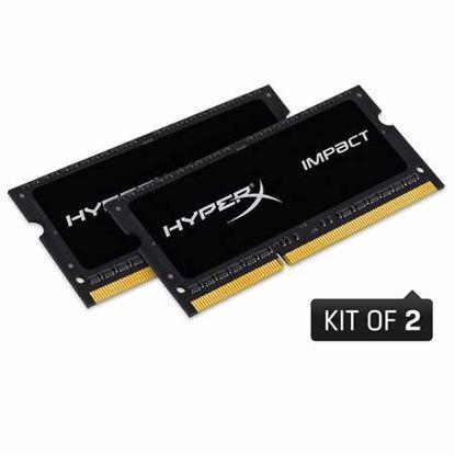 Fotografija izdelka KINGSTON HyperX Impact SODIMM 16GB (2x 8GB) 1866MHz DDR3 (HX318LS11IBK2/16) ram pomnilnik