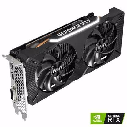 Fotografija izdelka PALIT GeForce RTX 2060 Dual OC 6GB GDDR6 (NE62060S18J9-1160A) grafična kartica