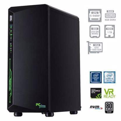 Fotografija izdelka PCPLUS Gamer i5-9400F 8GB 256GB NVMe SSD + 1TB HDD GTX1660 6GB W10PRO