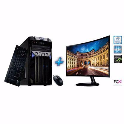 Fotografija izdelka Komplet računalnik PCX EXAM GAMING 1.33 (i3-8100/8GB/SSD120 GB+1TB/NV1050I 2GB)+Monitor Samsung 23,5