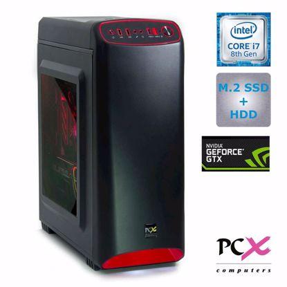 Fotografija izdelka PCX EXACT GAMER S5 ( i7-8700/16GB/SSD250GB/2TB/GTX1660-6GB) DOS