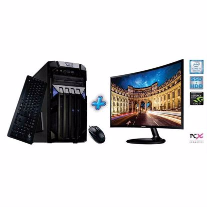 Fotografija izdelka Komplet računalnik PCX EXAM GAMING 1.33 (i3-8100/8GB/SSD120 GB+1TB/NV1050I 2GB)+Monitor Samsung 23,5 W10PRO