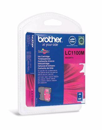 Fotografija izdelka Brother Kartuša LC1100M, magenta, 325 strani DCP6690 MFC6490/6890/5895/490 DCP385/591