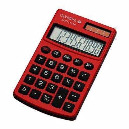 Fotografija izdelka Olympia Kalkulator LCD-1110 rdeč