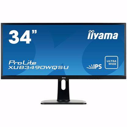 "Fotografija izdelka IIYAMA Monitor  34"" UW ETE IPS panel, 3440x1440 (21:9), Height Adjust. (13cm), 4ms, 320cdm², Speakers, 2xHDMI, 1HDMI/MHL, DisplayPort, USB-HUB (2x2.0+2x3.0)"