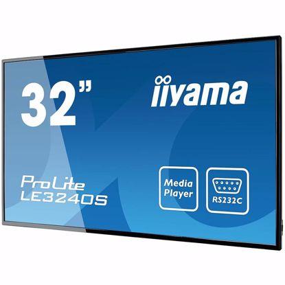 "Fotografija izdelka IIYAMA Monitor 32"" 1920x1080, IPS panel, Fan-less, Speakers, Multiple In-/Outputs (VGA, DVI-D, HDMI and more), 350 cd/m^2, 1400:1 Static Contrast, 8 ms, Landscape mode, Media Play USB Port, LAN Control (RJ45), RS232C (Control), VESA 200x200/100x100"