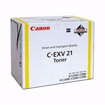 Fotografija izdelka TONER CANON CEXV21Y RUMENI (0455B002AA)