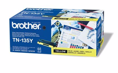 Fotografija izdelka Brother Toner TN135Y, yellow, 4.000 strani HL4040/50/70 DCP9040/2/5 MFC9440/50/9850