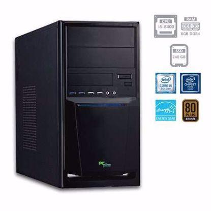 Fotografija izdelka PCPLUS e-office i5-8400 8GB 240GB SSD W10PRO + OFFICE 2019 Home&Business