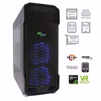 Fotografija izdelka PC PCPLUS Gamer Ryzen 5 3600 16GB 250GB NVMe SSD + 1TB GTX1660 6GB W10PRO + OFFICE 2019 Home&Business