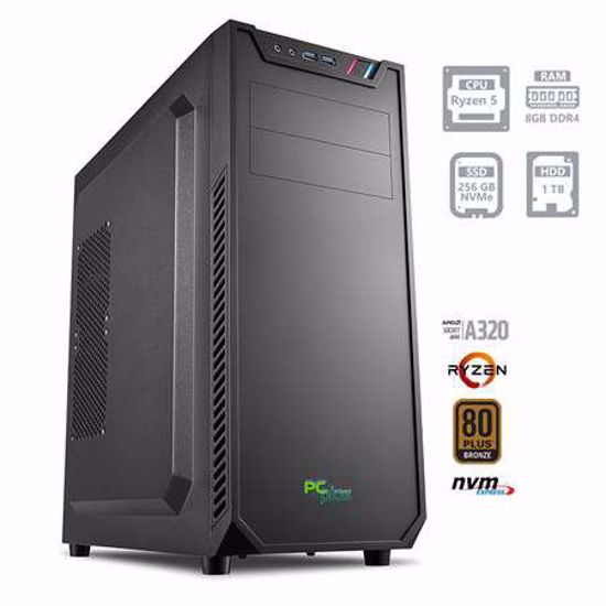 Fotografija izdelka PCPLUS Magic AMD Ryzen 5 3400G 8GB 256GB NVMe SSD 1TB HDD W10