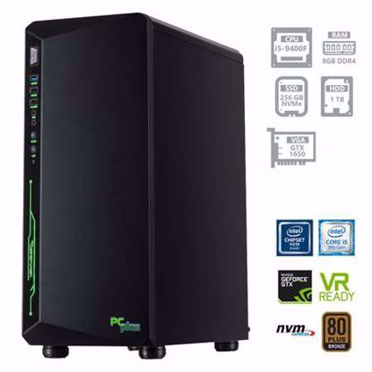 Fotografija izdelka PCPLUS Gamer i5-9400F 8GB 256GB SSD NVMe + 1TB HDD GTX1650 4GB W10