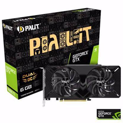 Fotografija izdelka PALIT GeForce GTX 1660 Ti Dual OC 6GB GDDR6 (NE6166TS18J9-1160A) grafična kartica