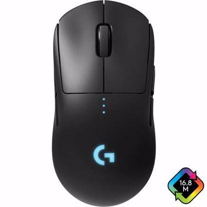 Fotografija izdelka LOGITECH G PRO HERO senzor črna RGB brezžična gaming miška